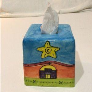 🦋New Listing🦋VTG Handpainted Tissue Box Holder
